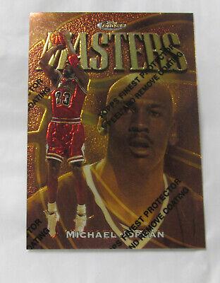 1997-98 TOPPS FINEST MICHAEL JORDAN MASTERS CARD #154 / RARE