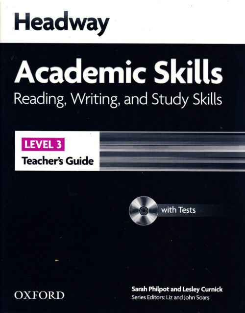 HEADWAY Academic Skills 3 Reading Writing & Study Teacher's Guide w Tests CD NEW