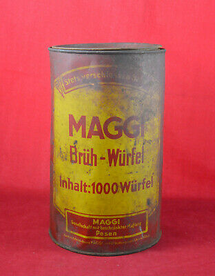 GERMAN WWII WEHRMACHT MAGGI SOUP CUBES BIG SIZE TIN CONTAINER RATION POSEN