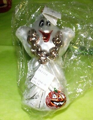 Christopher Radko Halloween BOO HOO GHOST 982660 Glass Ornament New NWT - Boo Hoo Halloween