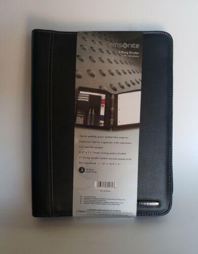 """Samsonite® Zip-Around Vinyl 3-Ring Padfolio, 13 """" x 10.5"""" x"""