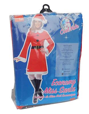 B-Ware Smiffys Kostüm Miss Santa Vlies Kleid für Erwachsene Weihnachten B Ware ()