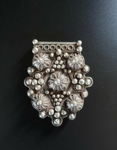 "Morocco - Mauritania – Rare large granulated cross ""Boghdad"" solid silver"