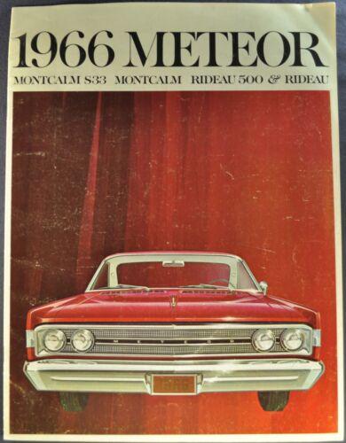 1966 Mercury Meteor Brochure Montcalm S33 Rideau 500 Nice Original 66 Canadian