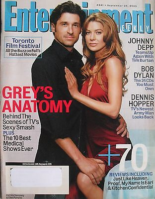 Patrick Dempsey   Ellen Pompeo  Greys Anatomy  Sept  2005 Entertainment Weekly
