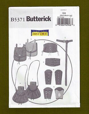 Warrior Accessories Sewing Pattern~Bracers Pouches Corset (S-L) Butterick 5371 - Warrior Corset