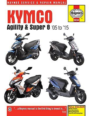 Haynes Manual 6034 - Kymco Agility & Super 8 Scooters (05 - 15) Service/Repair