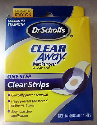 Dr. Scholls Clear Away One Step Wart Remover clear strips - 14 Medicated -