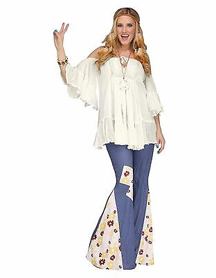 Groovy 60's 60s Hippie Gauze Top Shirt Adult Costume Accessory, One - Hippie Groovy