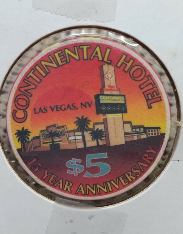 $5 NV Las Vegas Continental Hotel Casino Chip Limited 1000