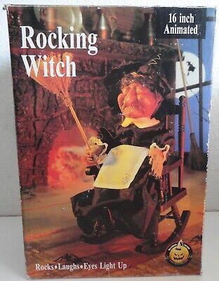 Gemmy Animated Rocking Witch Halloween Decoration w/ Box