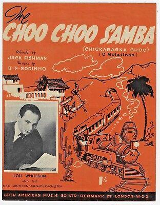 RAILROAD Sheet Music CHOO CHOO SAMBA CHICKARACKA CHOO 1951