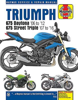 Triumph 675 Daytona Street Triple 2006-16 Haynes Manual 4876