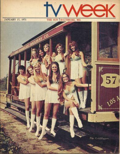 RARE 1971 THE GOLDDIGGERS TV WEEK GUIDE REGIONAL  MAGAZINE