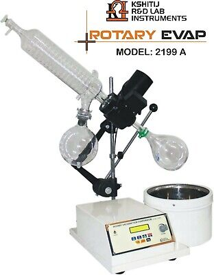 Rotary Vacuum Evaporator Digital Temp Rpm With Glass Parts Nicely Packed