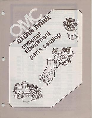 1979 Omc Stern Drive Optional Equipement Parts Manual