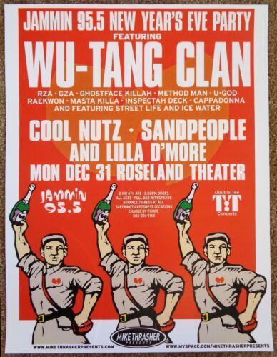 WU TANG CLAN 2007 Gig POSTER Portland Oregon Concert