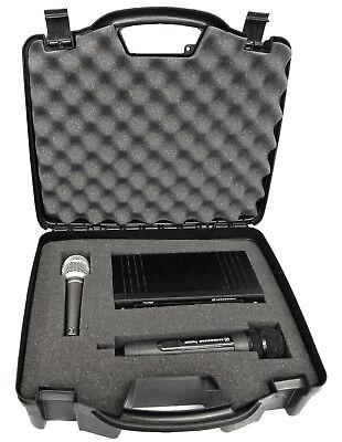 Studio Mic Case Fits Sennheiser , Shure , Audio-Technica Receiver & Transmitter