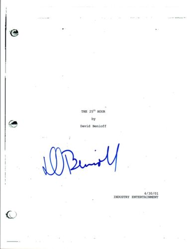 David Benioff Signed Autographed THE 25TH HOUR Full Movie Script COA VD