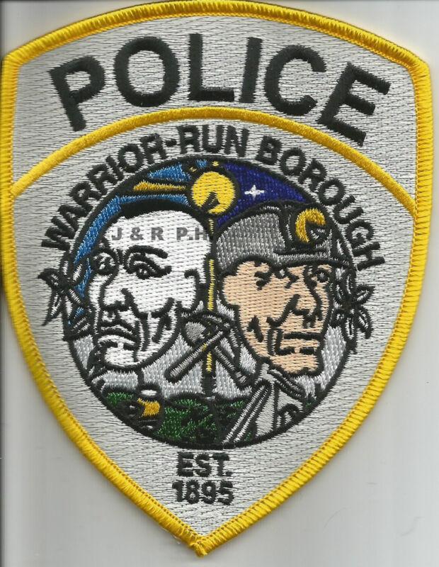 "Warrior-Run Borough  1895, PA  3.75"" x 5"" size)  shoulder police patch (fire)"