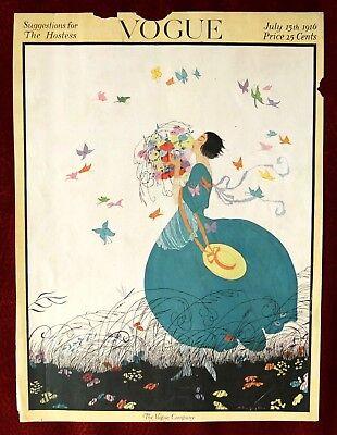 Vogue Magazine Original Cover Only ~ July 15, 1916 ~ Helen Dryden