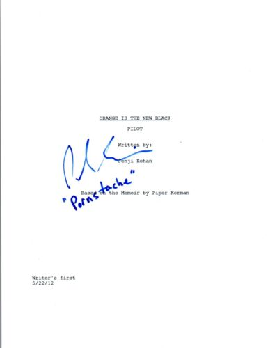 Pablo Schreiber Signed Autographed ORANGE IS THE NEW BLACK Pilot Script COA VD