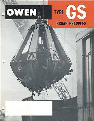 Equipment Brochure - Owen - Gs Scrap Grapple - Car Body Grab - 2 Items E3513