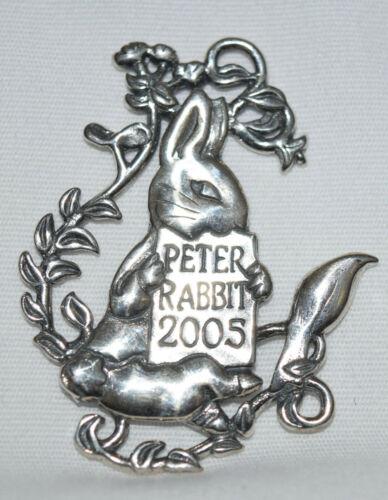 Hand & Hammer Sterling Peter Rabbit 2005 Ornament
