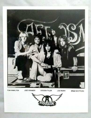 AEROSMITH 1984 Back In The Saddle Promo A4 Glossy Matte B&W 8x10 Photograph