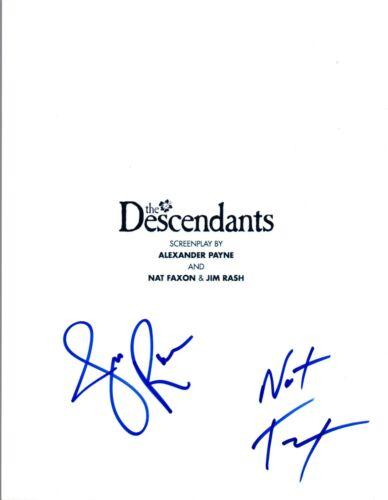 Nat Faxon & Jim Rash Signed Autographed THE DESCENDANTS Movie Script COA VD
