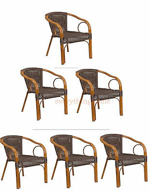 Aluminum Porch Frame - BROWN RATTAN RESTAURANT PATIO DINING CHAIR BAMBOO ALUMINUM FRAME INDOORS OR OUT!