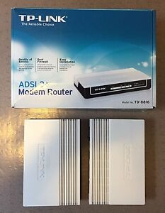 Two TP-Link TD-8816 ADSL Modem Routers