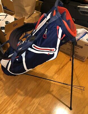 Sun Mountain Montana Red/White/Blue Carry Stand Bag w/ American Flag (LQQK) White Carrying Bag
