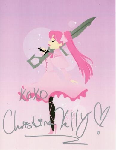 Christina Kelly Autograph Signed 8x10 Photo - Akame Ga Kill (Zobie COA)