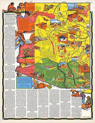 1960 pictorial map German Federal Railroad through the Land of Fairytales 12023