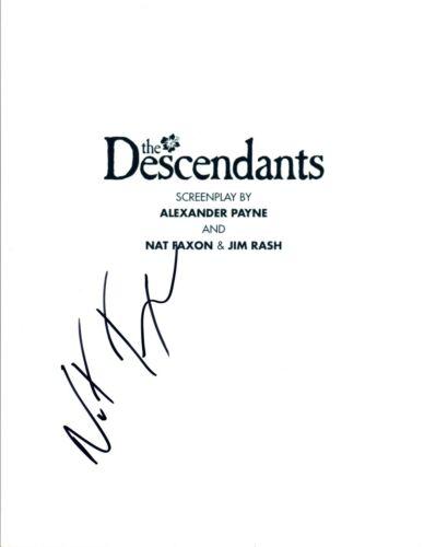 Nat Faxon Signed Autographed THE DESCENDANTS Full Movie Script COA
