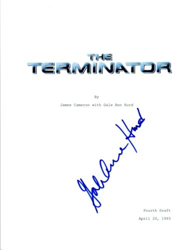 Producer Gale Ann Hurd Signed Autographed THE TERMINATOR Movie Script COA