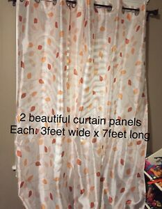 Curtains and home decor lot