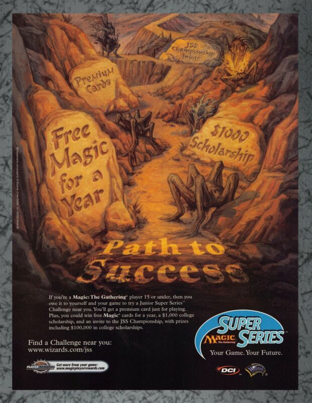 Magic The Gathering Super Series Path to Success - Print Ad Original Art