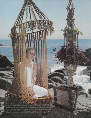 New Ideas with Macrame Pattern Book Double Plant Hanger Chair Hamper Lamp Shade
