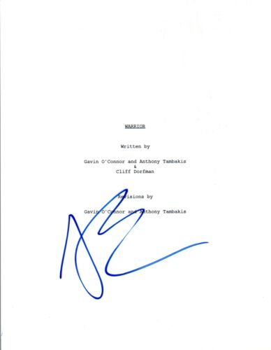 Joel Edgerton Signed Autographed WARRIOR Full Movie Script COA AB