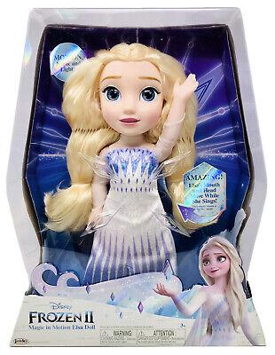 "Disney Frozen 2 Magic In Motion Elsa Doll sings ""Show Yourself"" NEW"