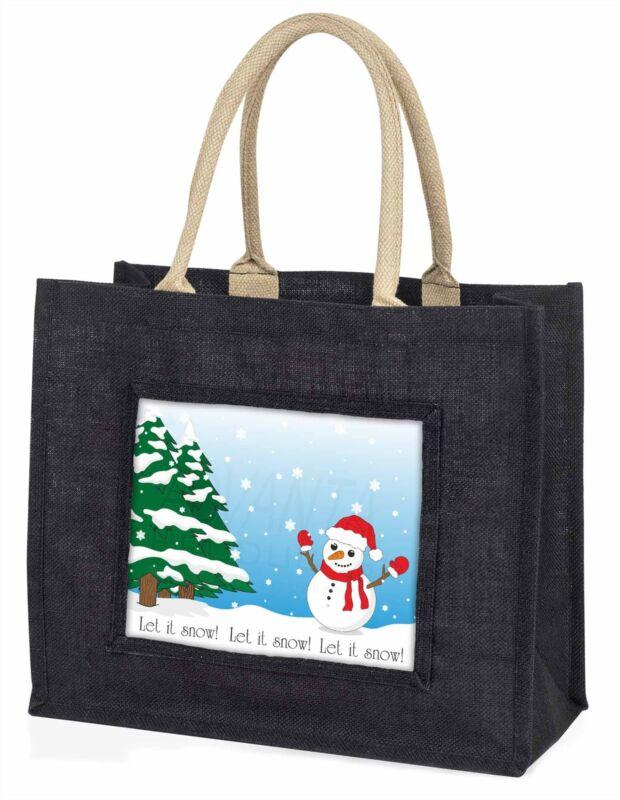 Snow+Man+Large+Black+Shopping+Bag+Christmas+Present+Idea++++++%2C+Snow-1BLB