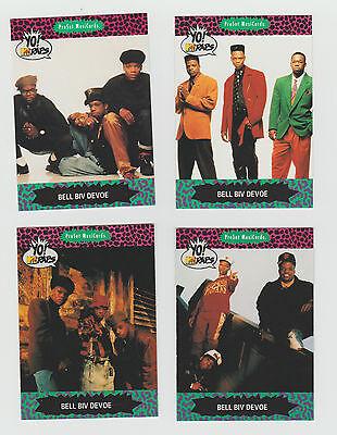 Lot of 4 Bel Biv DeVoe Yo! MTV Raps trading cards, Published 1991