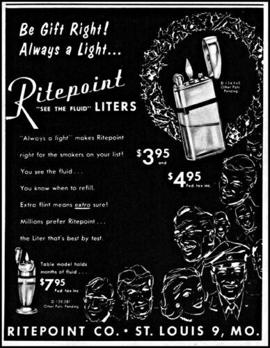 1952 Ritepopint Lighters Liters St. Louis Missouri vintage art Print Ad adL99