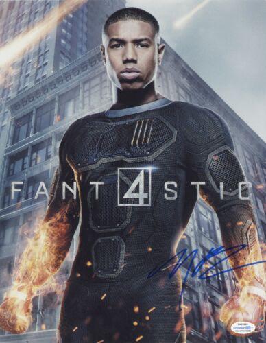 Fantastic Four Michael B Jordan Autographed Signed 11x14 Photo ACOA #3