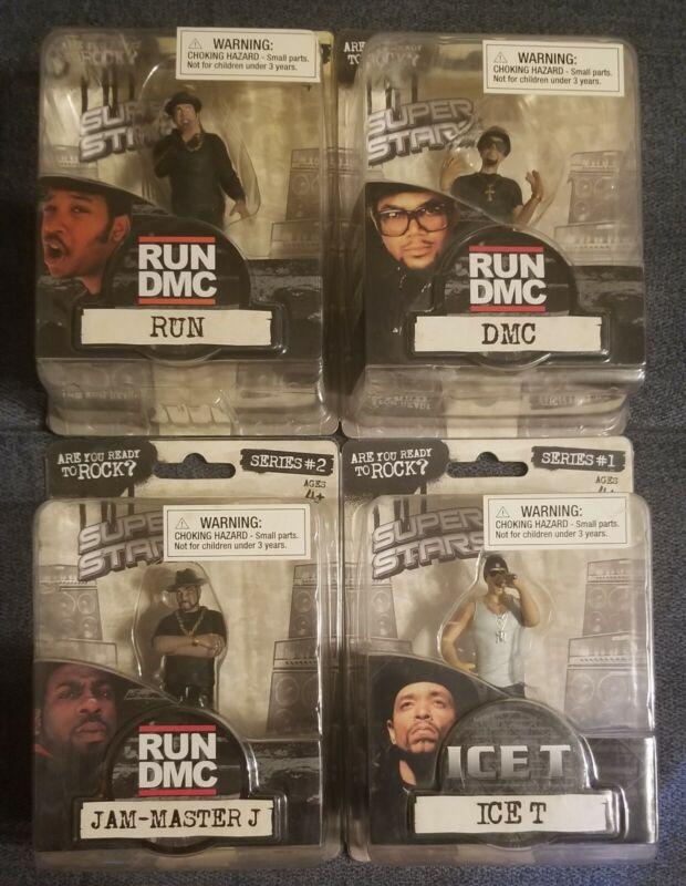 RUN DMC Jam Master J & Ice-T Figure Figures Rap Super Stars Set Of 4 Rare Sealed