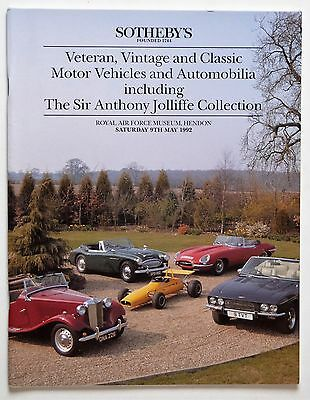 Sotheby's Auction Catalogue: Veteran and Classic Motor Vehicles and Automobilia
