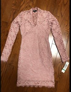 Brand new with tag pale pink lace dress XS