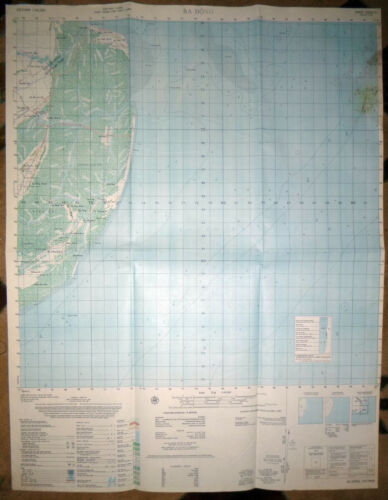 6328 iii - SOUTH CHINA SEA - RARE - 1966 MAP - VINH BINH - BA DONG - Vietnam War